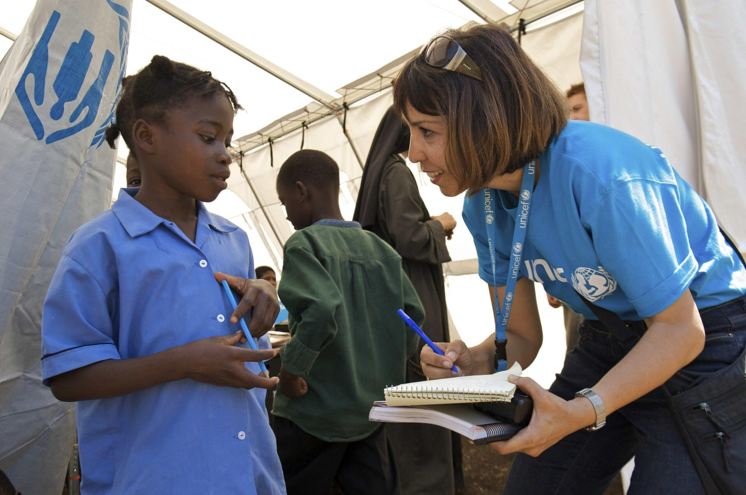 Práce pro UNICEF ve světě