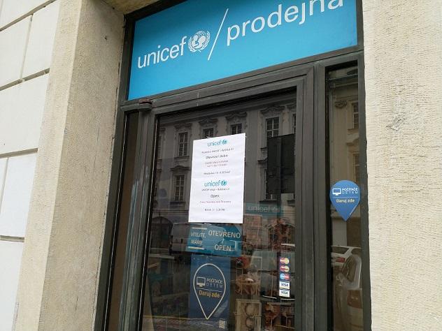 Prodejna UNICEF je sběrným místem pro Počítače dětem